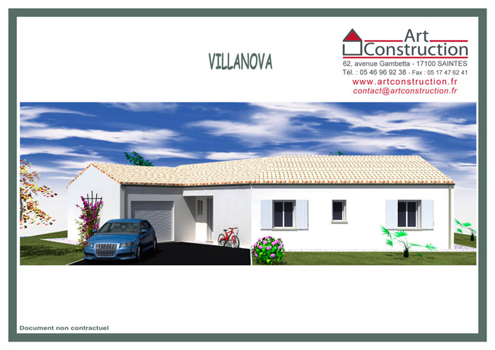 Villanova plan maison contemporaine plain pied